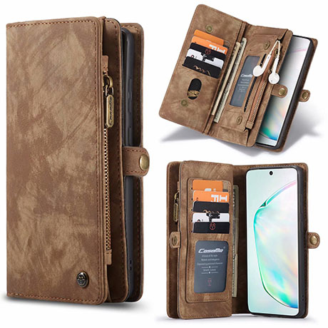 CaseMe 008 Samsung Galaxy S20 Ultra Wallet Case Brown