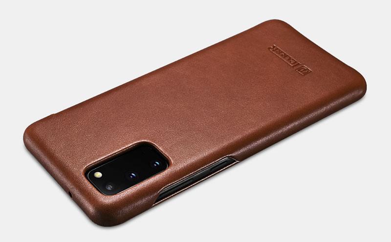 iCarer Samsung Galaxy S20 Curved Edge Vintage Genuine Leather Case