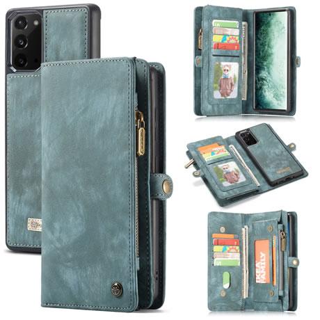 CaseMe 008 Samsung Galaxy Note 20 wallet case blue