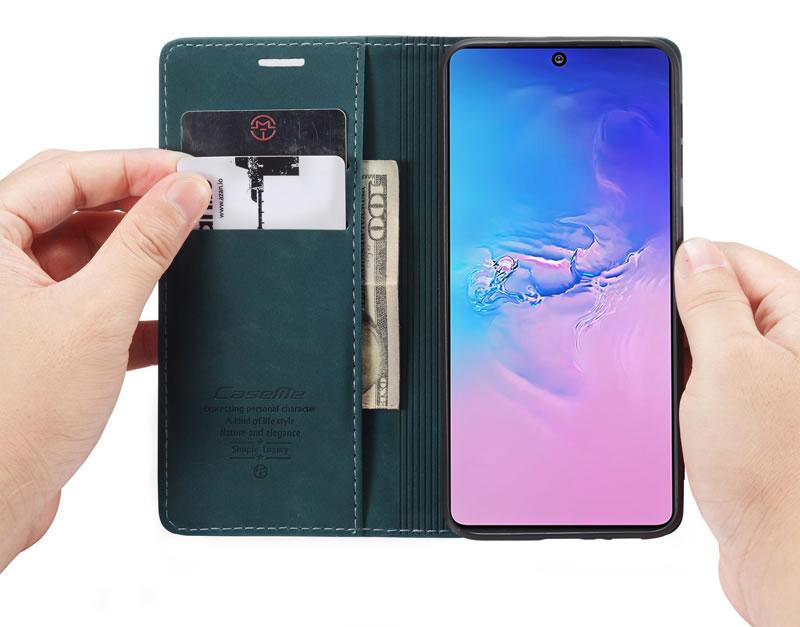 CaseMe Samsung Galaxy A91 Leather Wallet Case