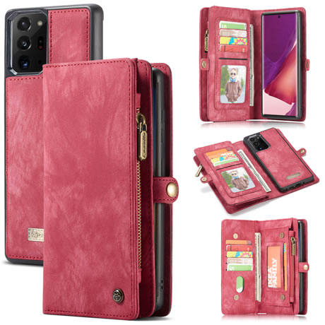 CaseMe 008 Samsung Galaxy Note 20 Ultra wallet case red