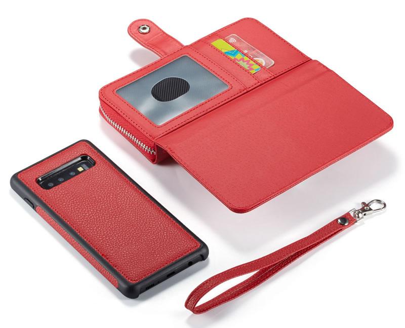 BRG Samsung Galaxy S10 Plus Litchi Texture Wallet Case