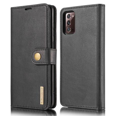 DG.MING Samsung Galaxy Note 20 Leather Wallet Case Black