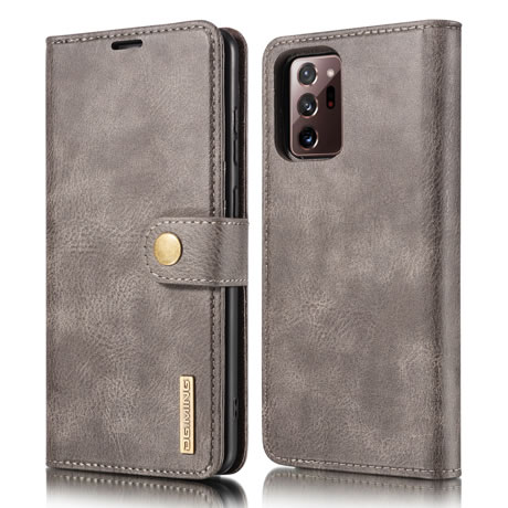 DG.MING Samsung Galaxy Note 20 Ultra Leather Wallet Case Gray