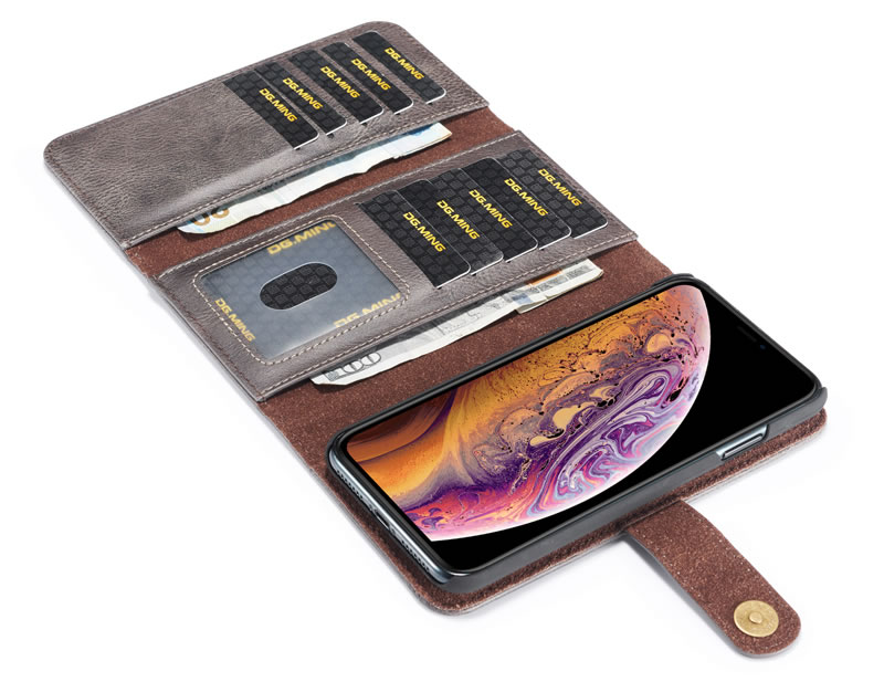 DG.MING iPhone XS Max Wallet Case