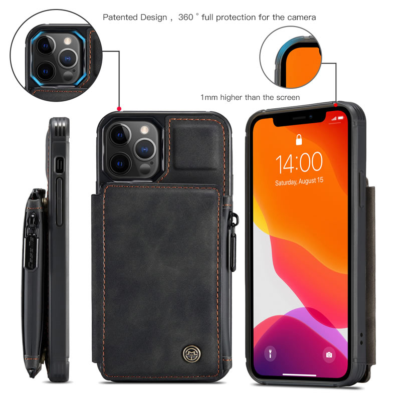CaseMe iPhone 12 Pro Leather Wallet Case