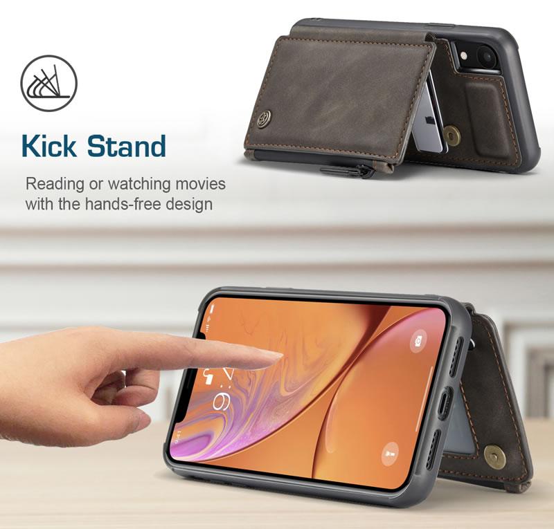 CaseMe iPhone XR Leather Wallet Case