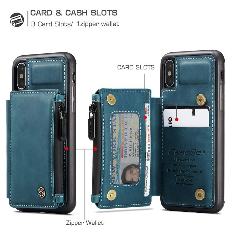 CaseMe iPhone XS Leather Wallet Case