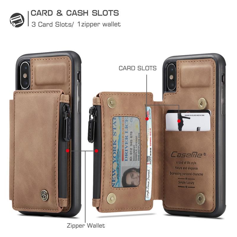 CaseMe iPhone XS Max Leather Wallet Case