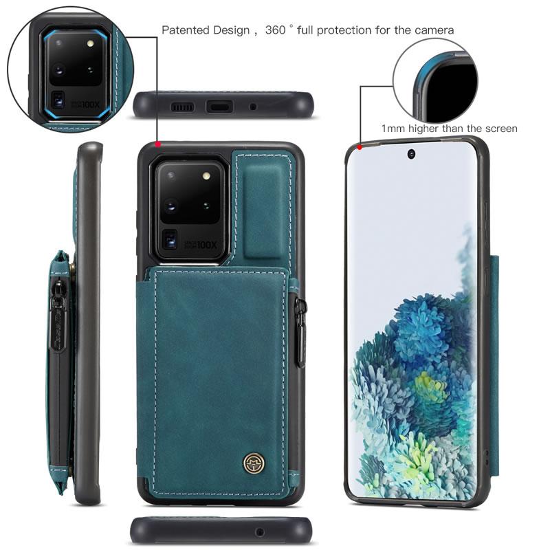 CaseMe Samsung Galaxy S20 Ultra Leather Wallet Case