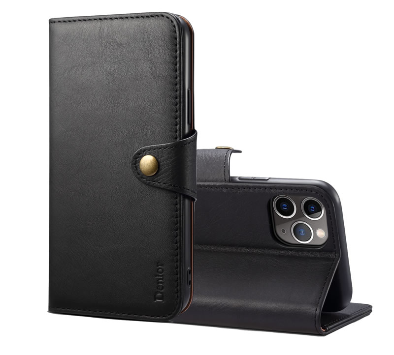 Denior iPhone 11 Pro Max Leather Wallet Case