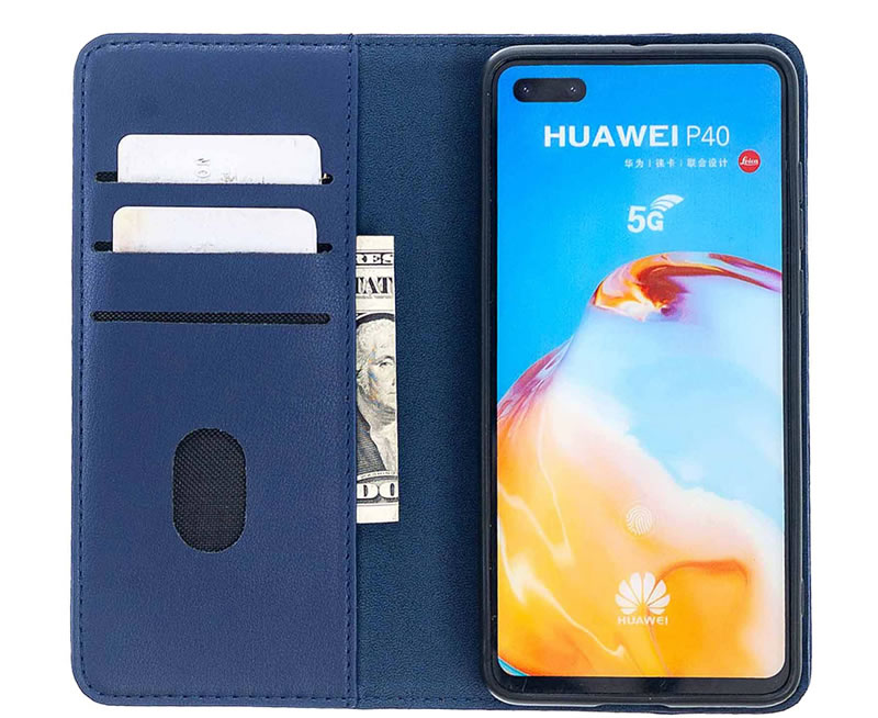 Huawei P40 Leather Wallet Case
