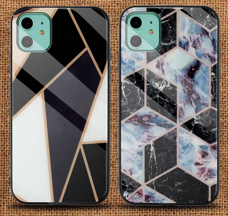 iPhone 11 Geometric Marble Case