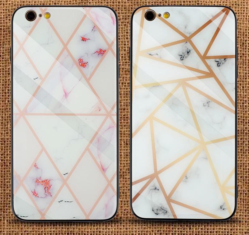 iPhone 6 Plus Geometric Marble Case