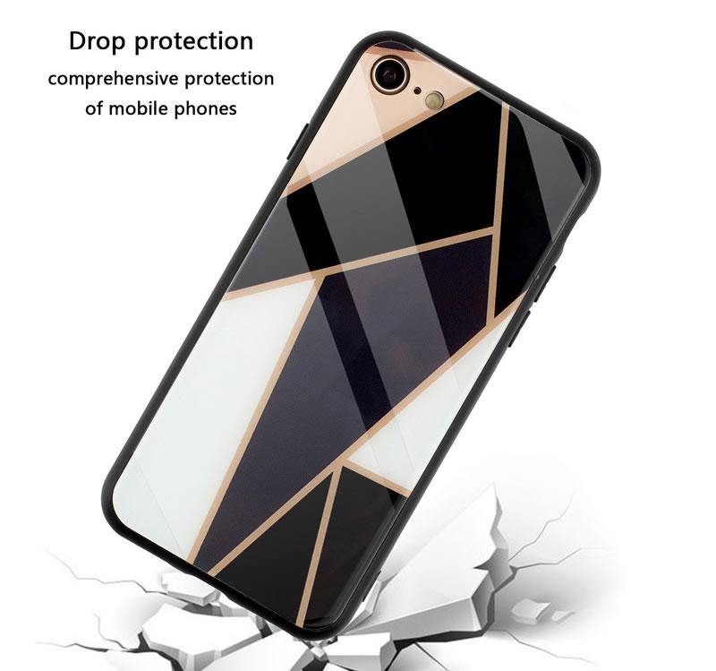 iPhone 7 Geometric Marble Case