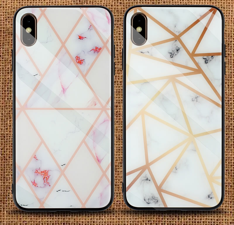 iPhone XS Geometric Marble Case