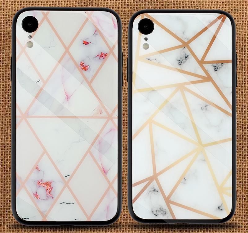 iPhone XR Geometric Marble Case