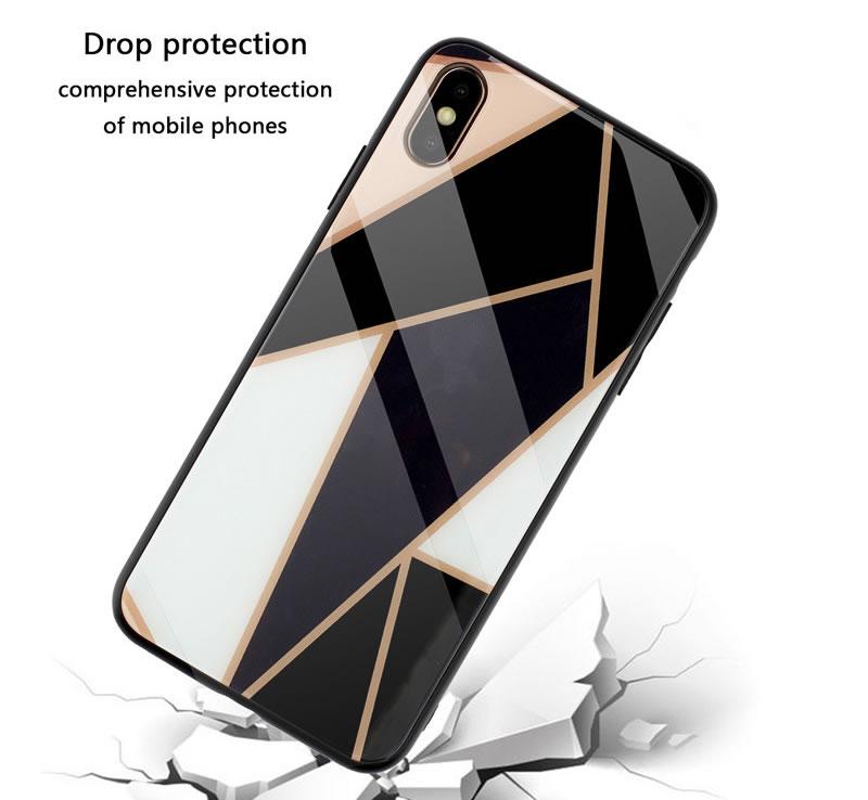 iPhone XS Max Geometric Marble Case