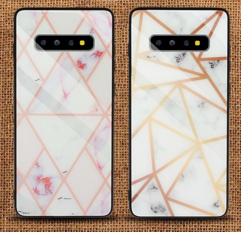 Samsung Galaxy S10 Geometric Marble Case