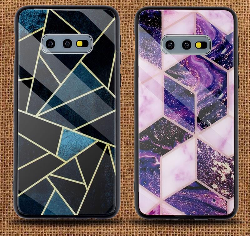 Samsung Galaxy S10e Geometric Marble Case