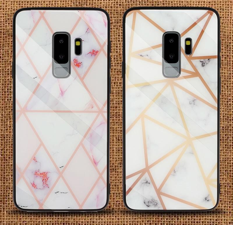 Samsung Galaxy S9 Plus Geometric Marble Case