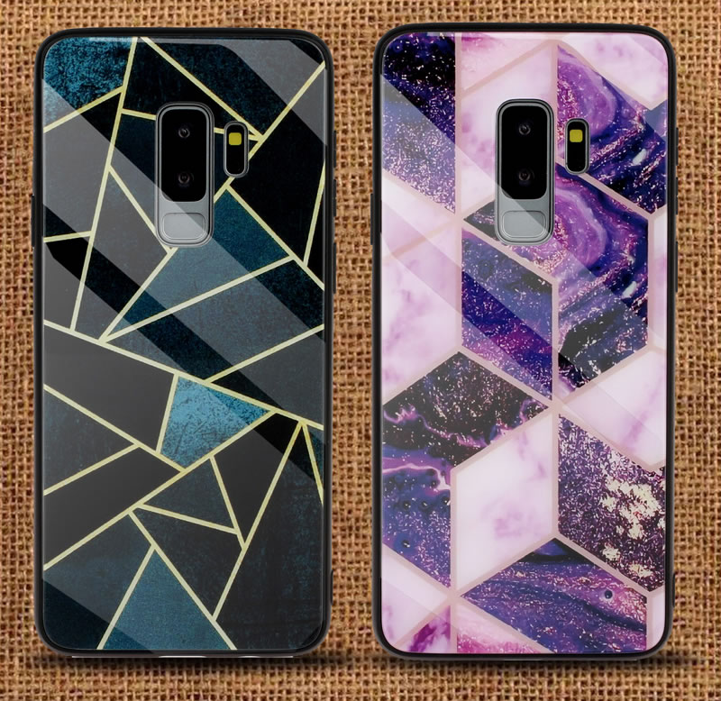 Samsung Galaxy S9 Geometric Marble Case