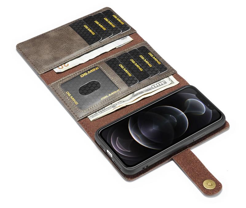 DG.MING iPhone 12 Pro Max Wallet Case