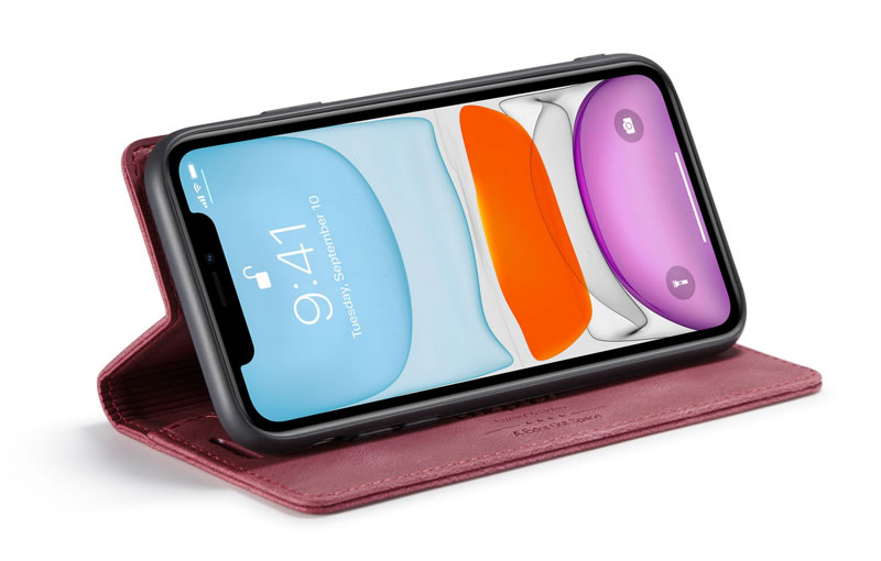 AutSpace iPhone 11 Leather Wallet Case