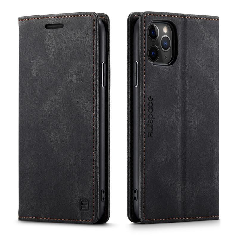 AutSpace iPhone 11 Pro Max Leather Wallet Case