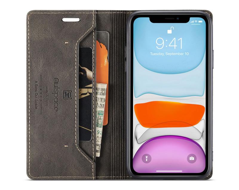AutSpace iPhone 11 Pro Leather Wallet Case