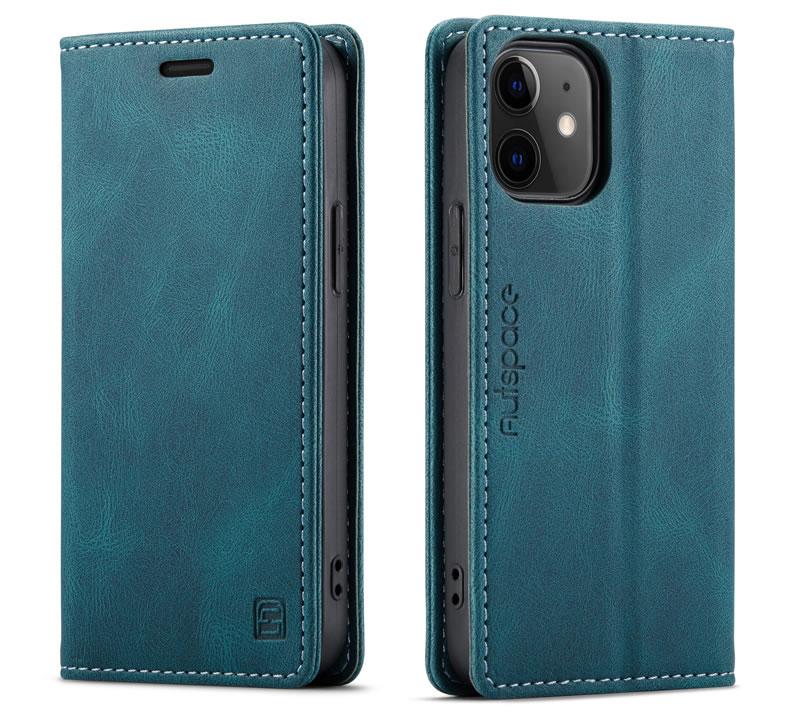 AutSpace iPhone 12 Mini Leather Wallet Case