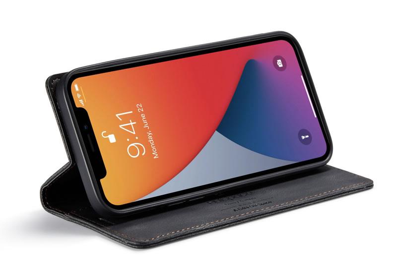 AutSpace iPhone 12 Pro Max Leather Wallet Case