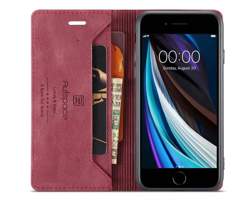 AutSpace iPhone 6 Leather Wallet Case