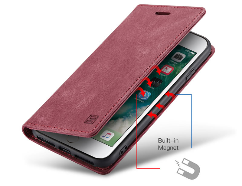 AutSpace iPhone 7 Plus Leather Wallet Case
