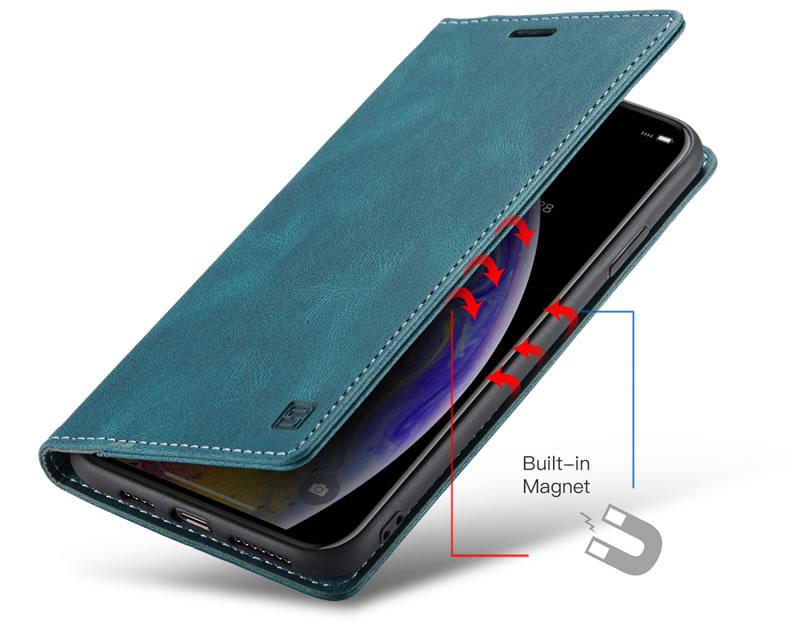 AutSpace iPhone XS Leather Wallet Case