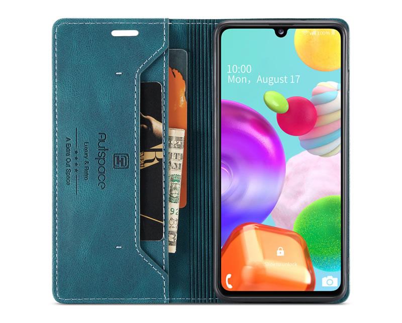 AutSpace Samsung Galaxy A41 Leather Wallet Case