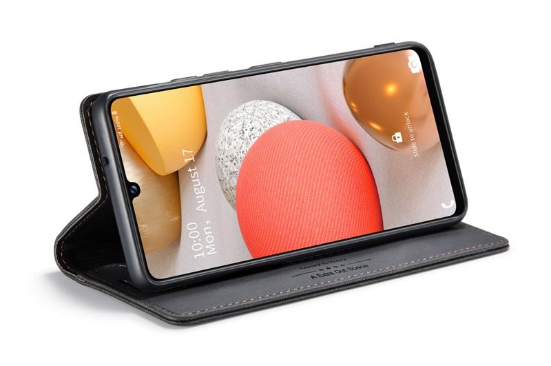 AutSpace Samsung Galaxy A42 5G Leather Wallet Case