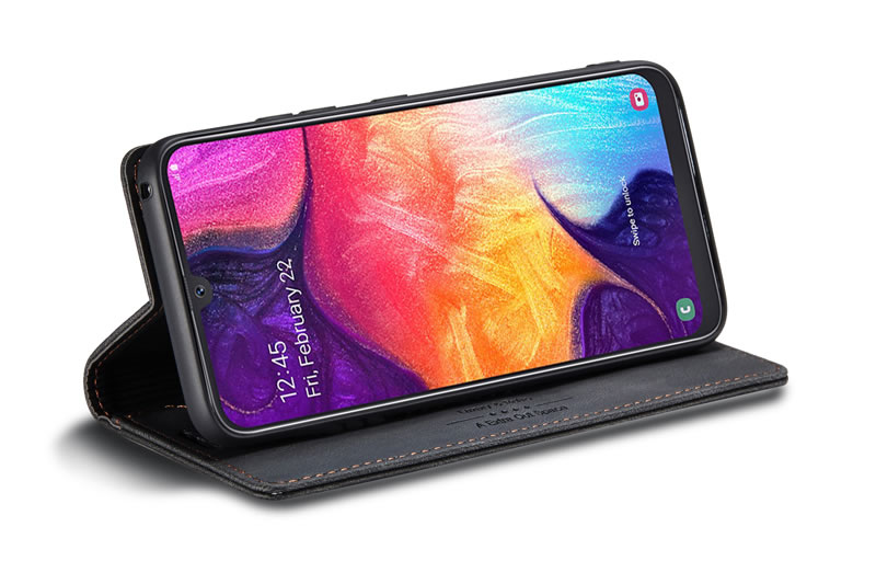 AutSpace Samsung Galaxy A50 Leather Wallet Case