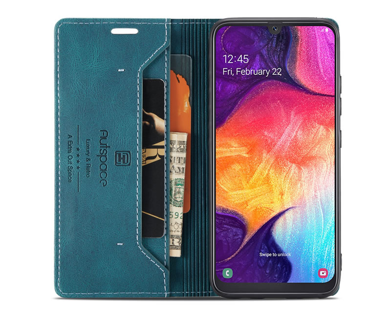 AutSpace Samsung Galaxy A30 Leather Wallet Case