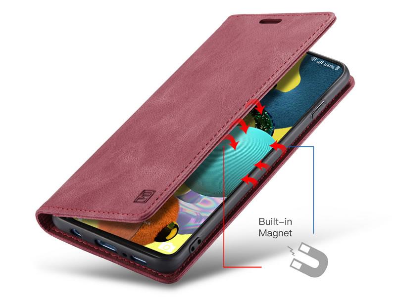 AutSpace Samsung Galaxy A51 Leather Wallet Case