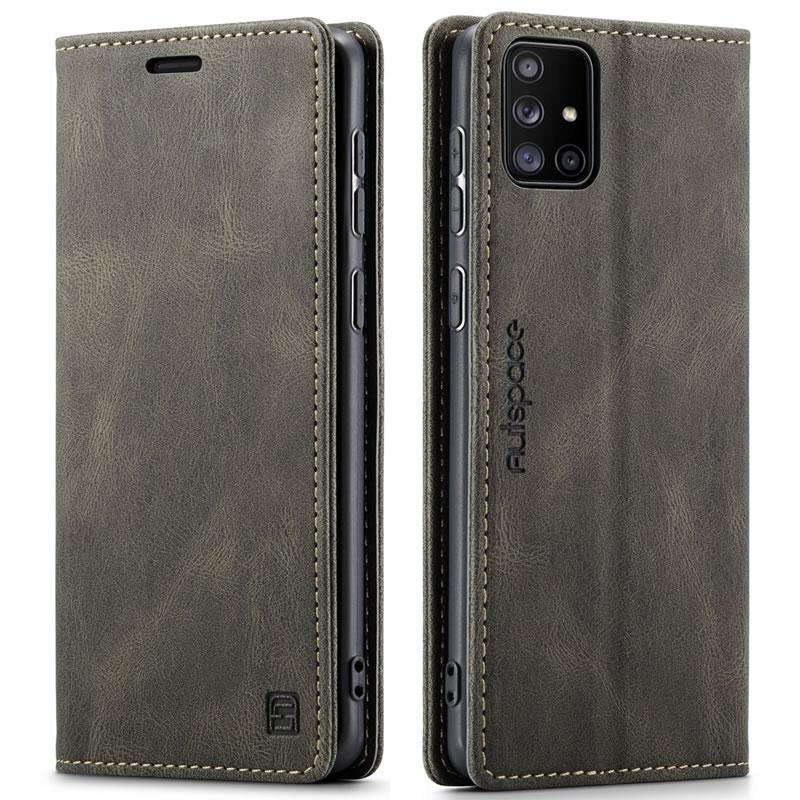 AutSpace Samsung Galaxy A71 Leather Wallet Case