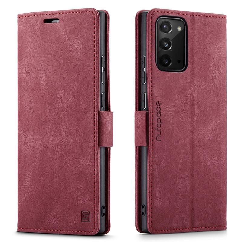 AutSpace Samsung Galaxy Note 20 Leather Wallet Case