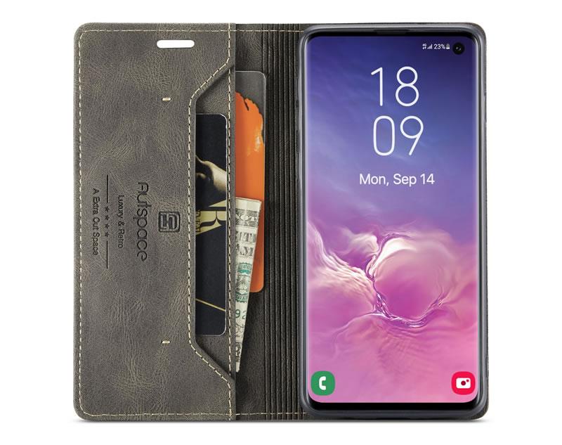 AutSpace Samsung Galaxy S10 Leather Wallet Case