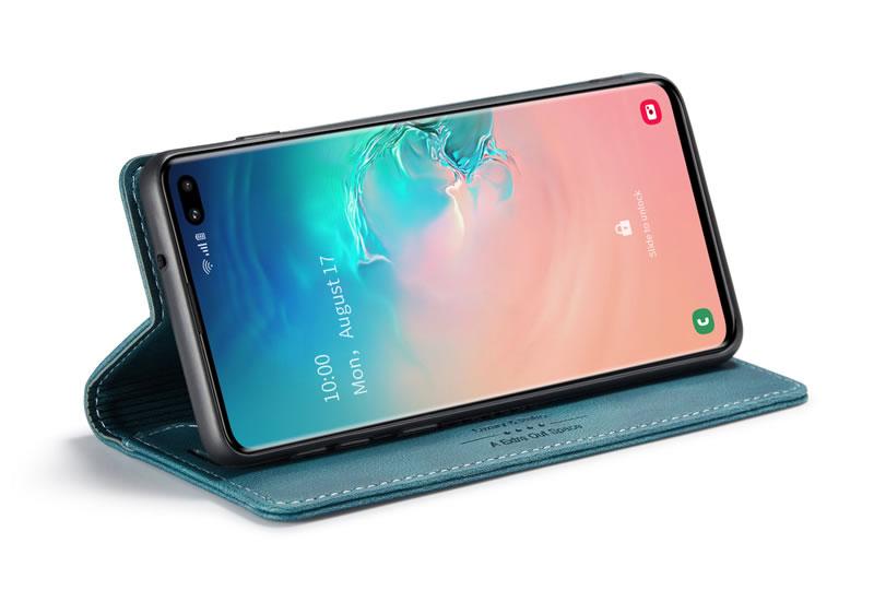 AutSpace Samsung Galaxy S10 Plus Leather Wallet Case