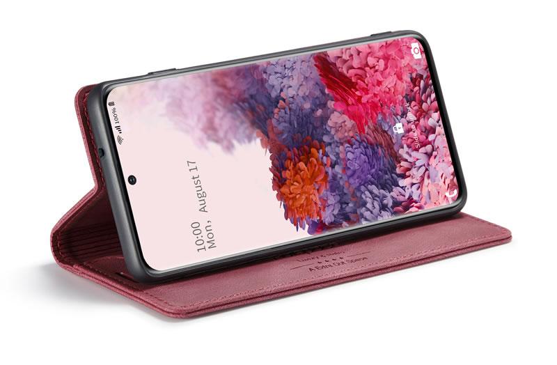 AutSpace Samsung Galaxy S20 Leather Wallet Case