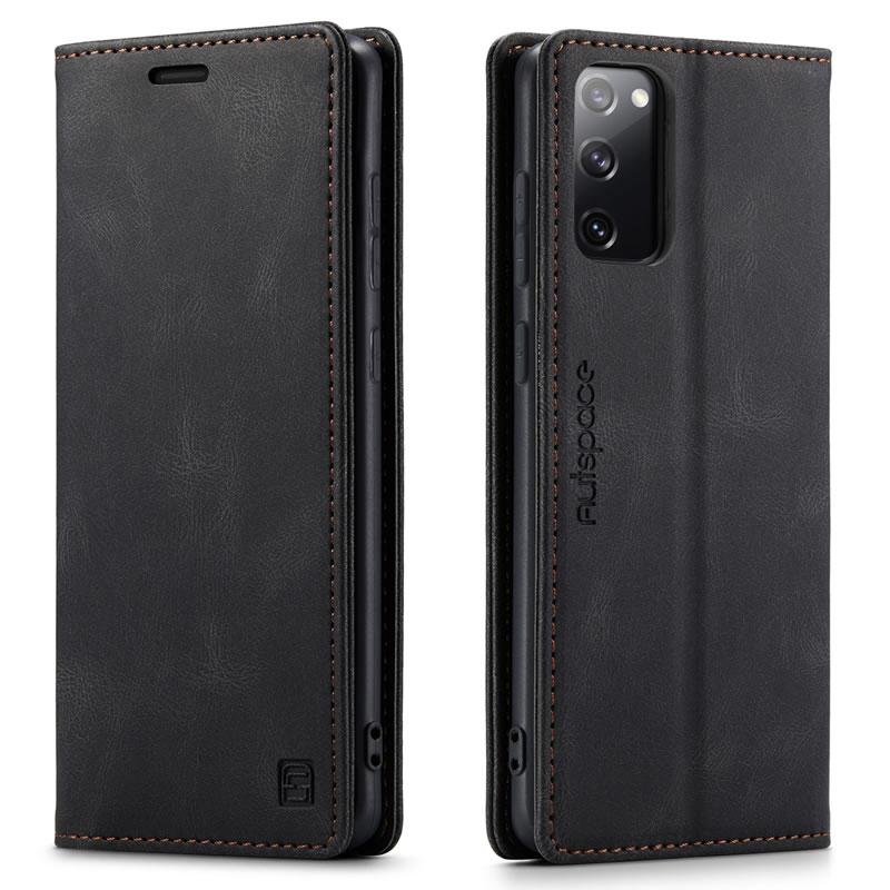 AutSpace Samsung Galaxy S20 FE Leather Wallet Case