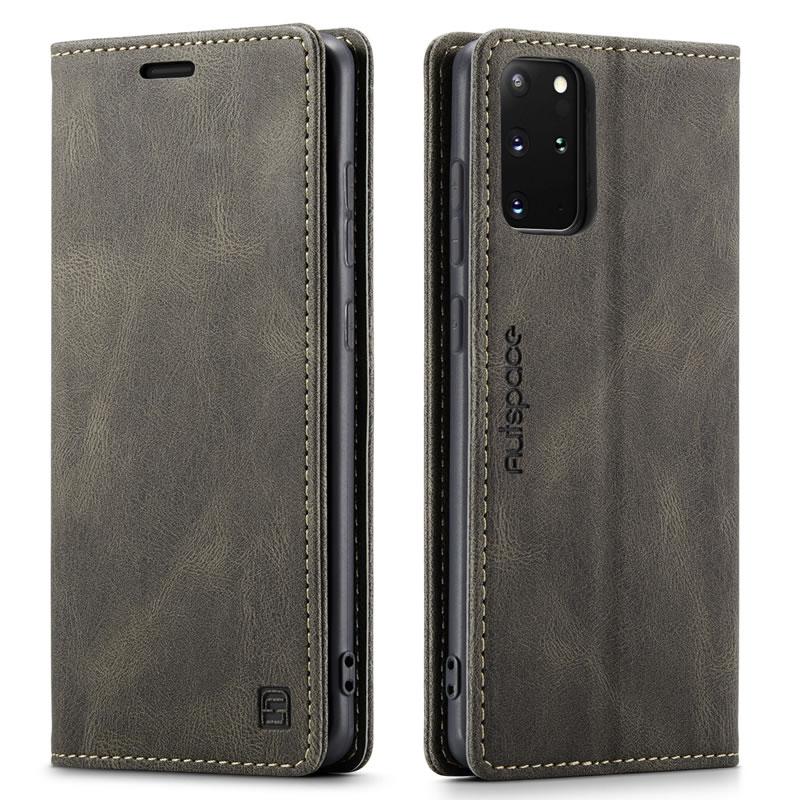AutSpace Samsung Galaxy S20 Plus Leather Wallet Case