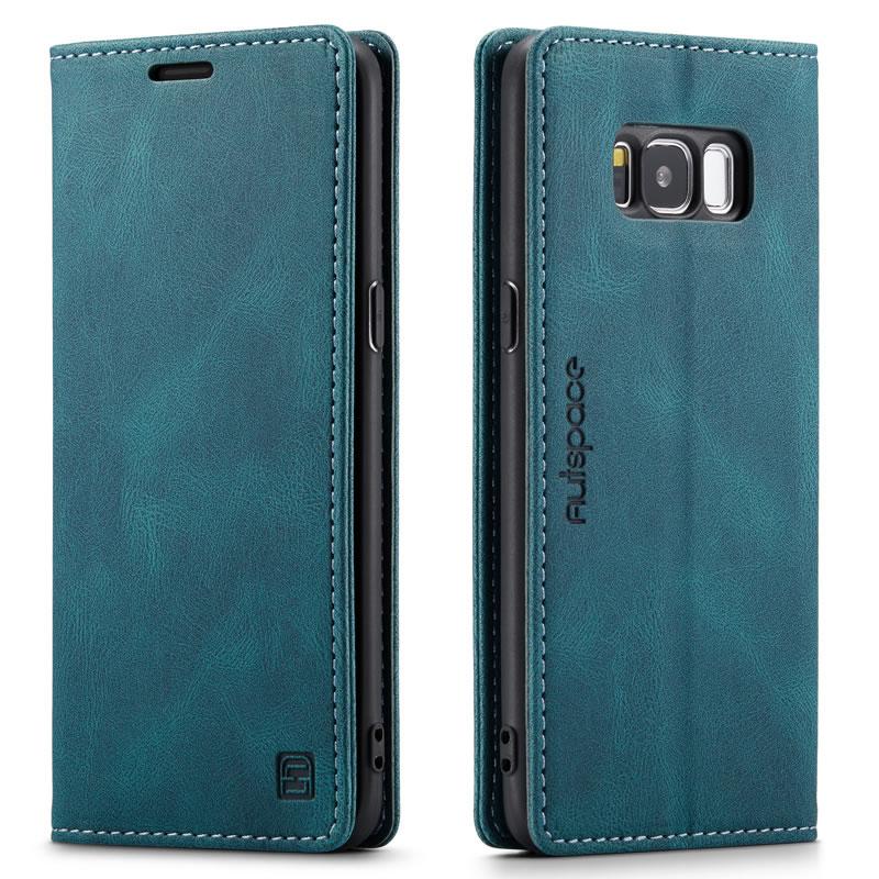 AutSpace Samsung Galaxy S8 Leather Wallet Case
