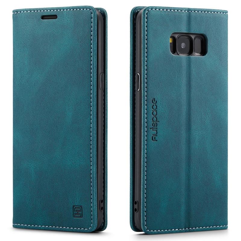 AutSpace Samsung Galaxy S8 Plus Leather Wallet Case