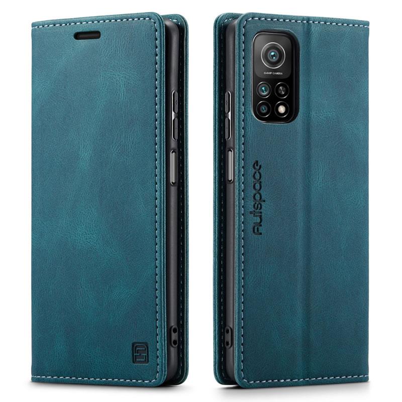 AutSpace Xiaomi Mi 10T Leather Wallet Case